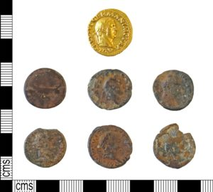 Roman coin hoard found in Tyne & Wear (DUR-507D5B). Copyright: Durham County Council, CC-BY Licence.