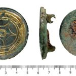 Copper alloy and gilded early medieval saucer brooch found in warwickshire (WMID-CE6945). Copyright: Birmingham Museums Trust, CC-BY Licence.