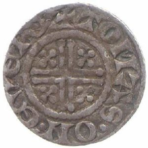 Reverse of CM.1290-2001; a York Mint Penny of Henry III.