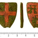 Medieval heraldic harness fitting