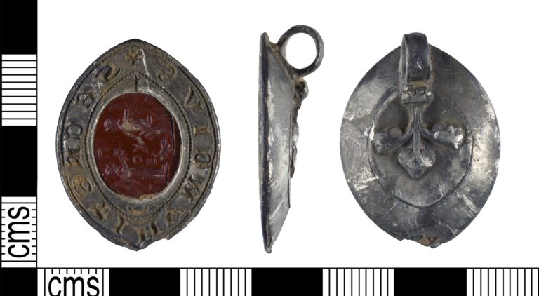 Fig.2: YORYM-13A179 A silver medieval seal matrix from North Yorkshire.
