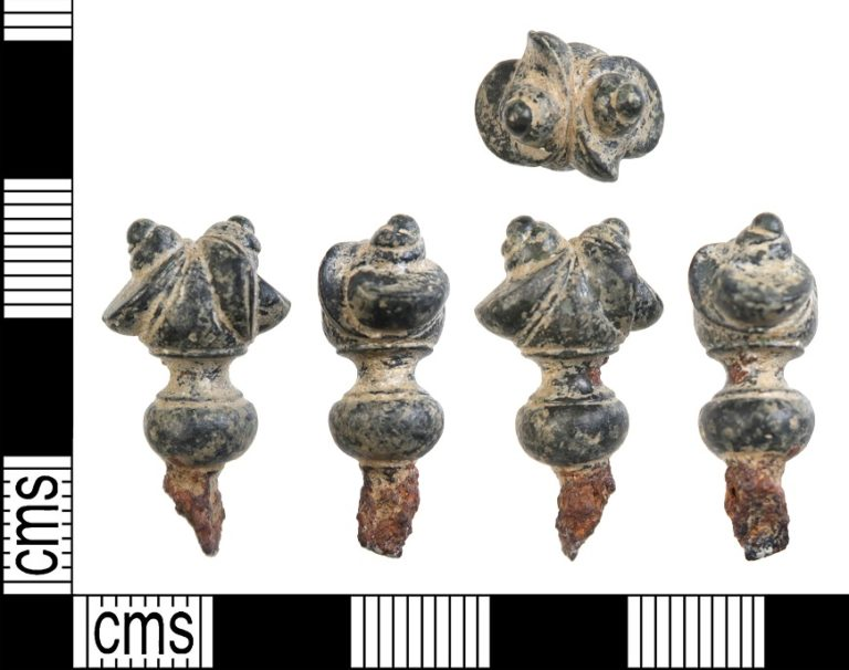 HAMP-A63ECB: Iron Age pin from Wield, Hampshire