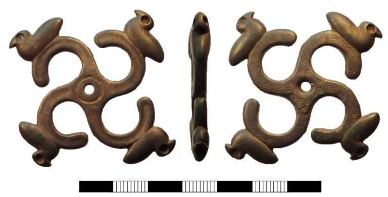 SUR-8328CA: Iron age to Roman fob dangler from Streatley, West Berkshire