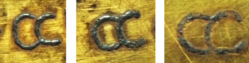 Examples of the letter a on the inscribed object StH 550