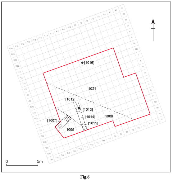 Fig. 6: plan of excavated features