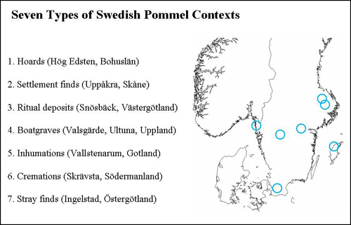 Fig. 1: Seven types of Swedish pommel contexts