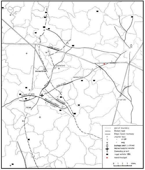 Fig. 4. South Staffordshire charter routeways
