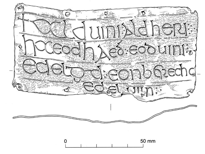 Inscribed lead plaque from Flixborough