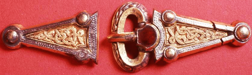 Anglo Saxon Brooch in Sterling Silver based on a Gold Mount from the Staffordshire Hoard