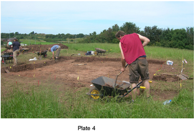 Pl. 4: the site under excavation, summer 2009