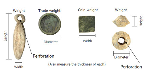 Weights dimensions