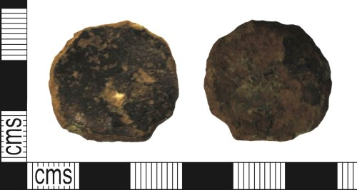 A resized image of Roman copper alloy coin, possibly a sestertius of an uncertain Emperor