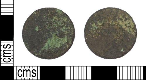 LANCUM-6D86EF: Post Medieval hammered copper alloy coin