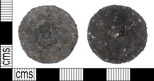 LANCUM-A35906: Post-medieval copper alloy button