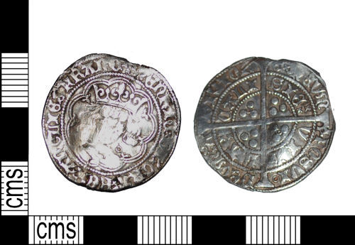 LANCUM-7D4542: Medieval English silver coin long cross groat of Henry VI North 1427