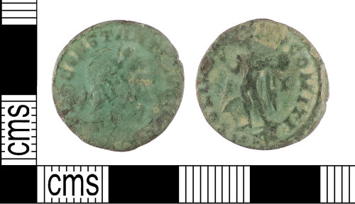 PUBLIC-A18DD1: A complete copper-alloy nummus of Constantine I as Caesar, dating c. 310-311 AD.