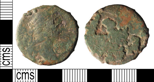 SUSS-C3F7FB: A copper alloy, Roman, dupodius or as, probably of Hadrian, AD.117-138, or a 2nd century Emperor.