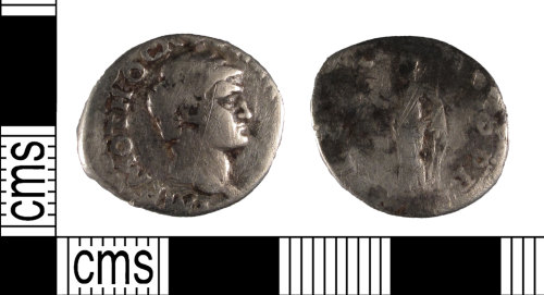 SUSS-829F2A: A silver Roman denarius of Otho dating to AD 69 (Reece period 3)