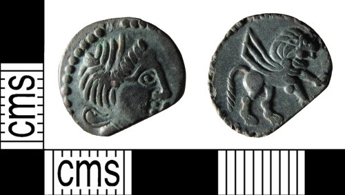 SUSS-9AA333: A copper alloy, Iron age, Gallic coin