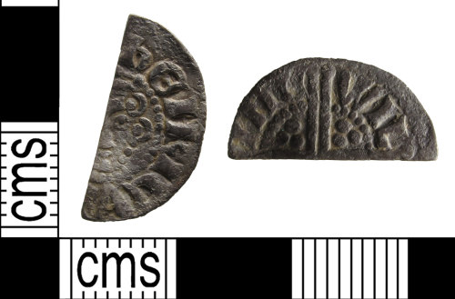 SUSS-D38E31: A Medieval, silver, voided long cross cut half penny of Henry III, AD.1247-72.