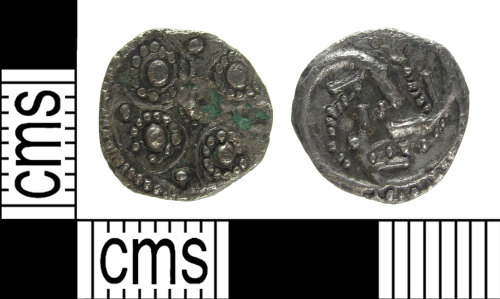 SUSS-DD95C6: A silver, Early Medieval, penny (sceat),