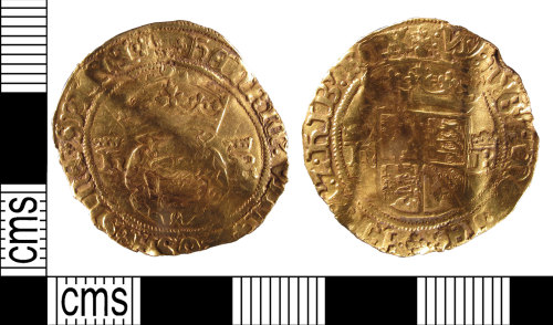 SUSS-FEAF65: A post medieval gold crown of Henry VIII, AD1509-1547, Tower Mint, Third Coinage AD.1544-1547, North No.1834.