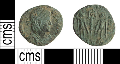 SUSS-D41E4B: A copper alloy Roman nummus of the House of Constantine, probably Constantine II as Augustus AD.337-61, dating AD330-348. Reece period 17, possibly Trier mint.