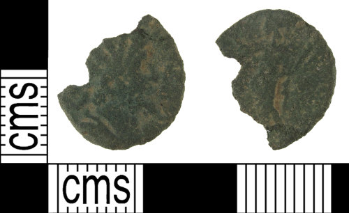 SUSS-DCA169: An incomplete, copper alloy, Roman, radiate, barbarous, AD.275-285
