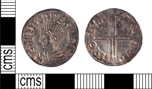 SUSS-9920FE: Early Medieval Silver penny of Aethelred II (AD978-1016), Canturbury mint, AD.997-1003.