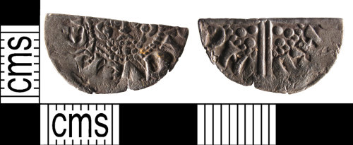 SUSS-B2802C: A silver, medieval, cut, voided long cross, halfpenny of Henry III, AD.1216-1272, no sceptre AD.1247-1250. Canturbury mint,