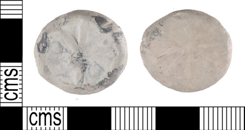 A resized image of A circular post medieval cast lead token, AD.1500-1800