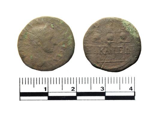 PUBLIC-1872B3: Roman coin. Copper alloy As of Severus Alexander