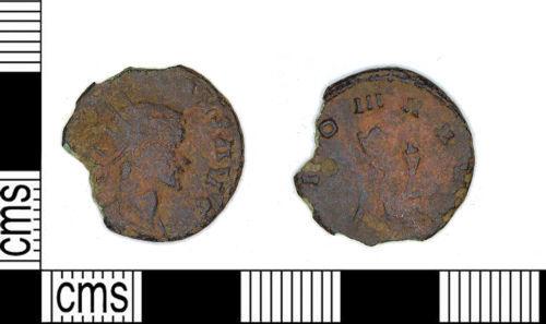 LEIC-FAED13: LEIC-FAED13 Roman coin: Radiate of Claudius II