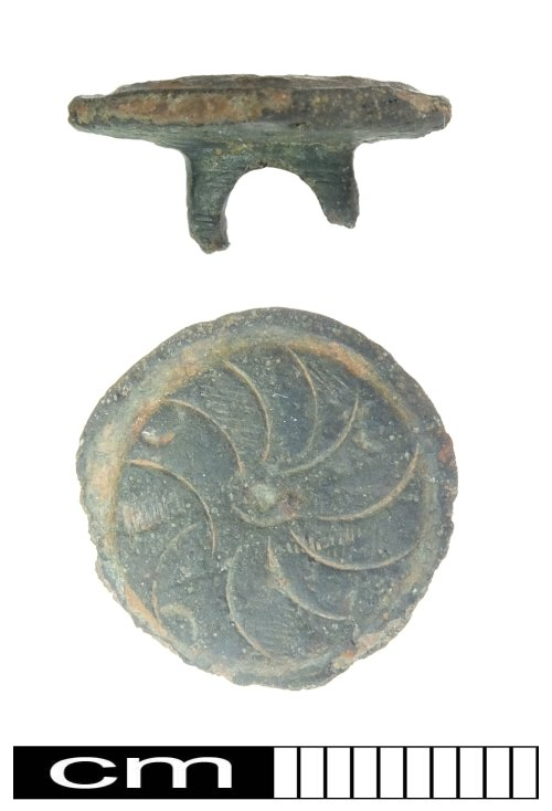 PUBLIC-3C2EE8: Post Medieval copper-alloy button