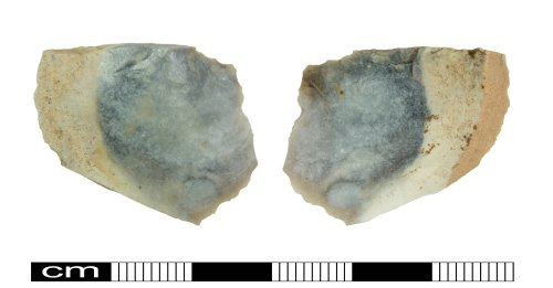 A resized image of Neolithic flint debitage