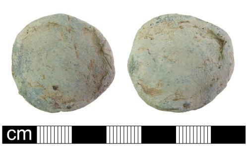 PUBLIC-88C497: Poct Medieval crude lead Pan Weight