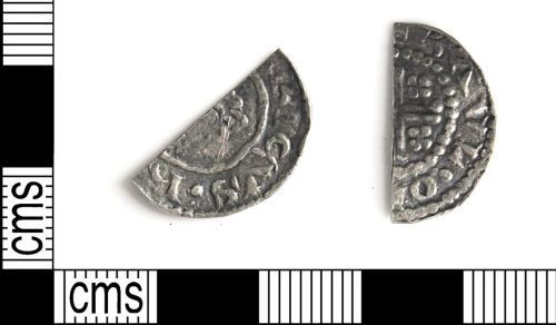 DUR-007C39: DUR-007C39 cut halfpenny of Henry II
