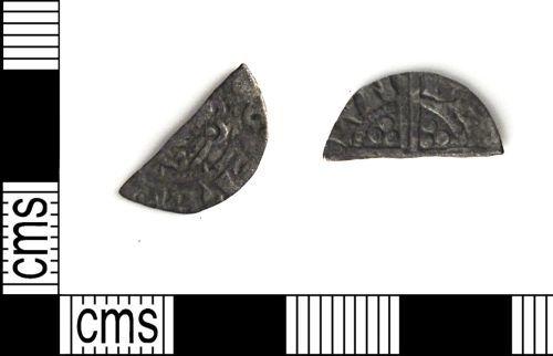 DUR-00B17E: DUR-00B17E cut halfpenny of Henry III