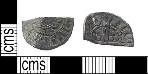 DUR-3EFA42: Cut halfpenny of Henry III