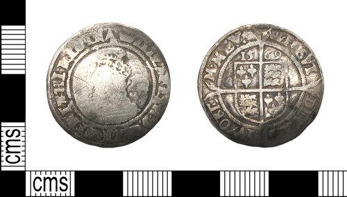 DUR-79E02A: Sixpence of Elizabeth I