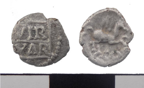 PUBLIC-57CB22: Iron Age coin: silver minim of Verica