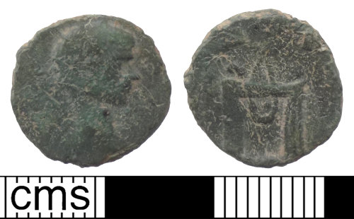 A resized image of Roman coin; copper-alloy radiate commemorating Claudius II