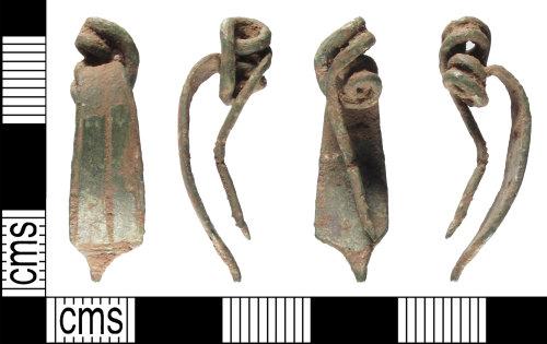 SUSS-5484C3: Late Iron Age or early Roman brooch of Nauheim derivative/La Téne III type