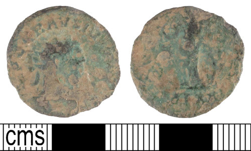 SUSS-56E9C4: Roman coin; copper-alloy radiate of Carausius