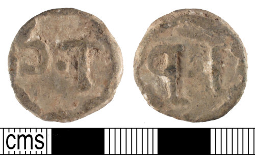 A resized image of Lead-alloy token, Powell type 2