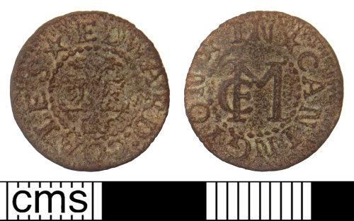SUSS-AFA5B7: Post-medieval trade token farthing of Edward Coales of Cannington, Somerset