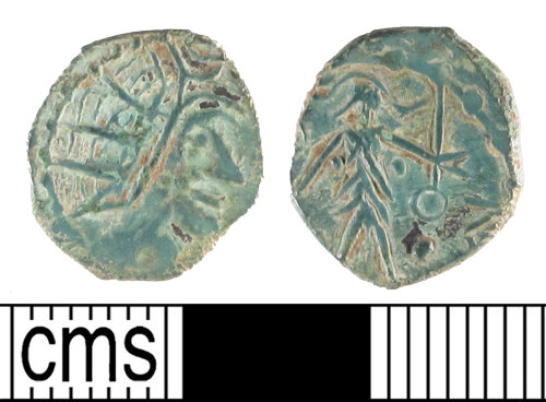 SUSS-BA2542: Roman coin; barbarous radiate, probably imitating Tetricus I