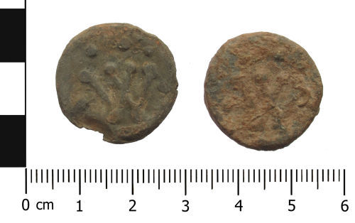 WAW-10A314: Post Medieval lead token.