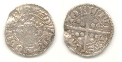 WAW-159866: Obverse and reverse of a Edward I or II penny.