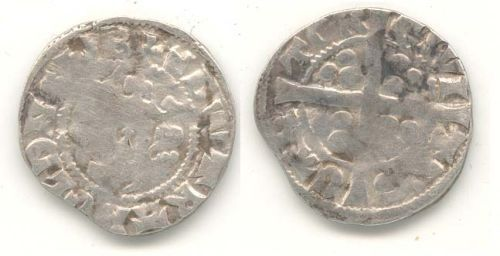 WAW-15C862: Obverse and reverse of an Edward II penny.
